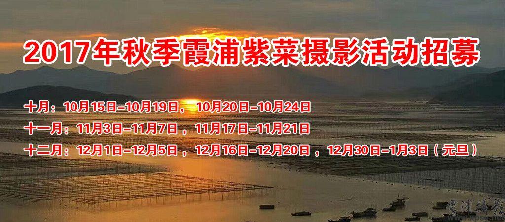 2017年秋季霞浦紫菜摄影活动招募