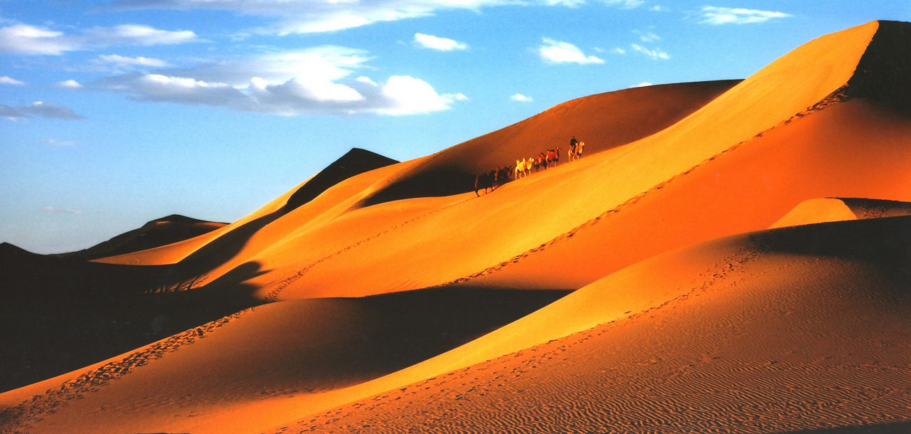 """02.宁夏沙坡头 沙坡头旅游区位于宁夏中卫市城区以西20公里腾格里沙漠东南边缘处。这里集大漠、黄河、高山、绿洲为一处,即具西北风光之雄奇,又兼江南景色之秀美。自然景观独特,人文景观丰厚,被旅游界专家誉为世界垄断性旅游资源。沙坡头旅游区是国家首批AAAA级旅游景区,是第一个国家级沙漠生态自然保护区,是中国三大鸣沙一一沙坡鸣钟所在地,丰硕的治沙成果于1994年被联合国授予""""全球环保500佳单位""""的光荣称号,同年被国务院授予""""科技进步特别奖""""被世人称为""""沙都""""。"""